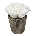 Heinau Birch Bowl White Roses