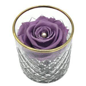 Heinau Optimist Bowl Purple Flowers