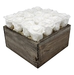 Heinau Rose Box White Roses